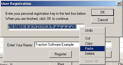 Traction Software - Serial Keys