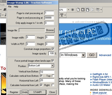 PDF Image Stamp - automatically image stamp your documents.